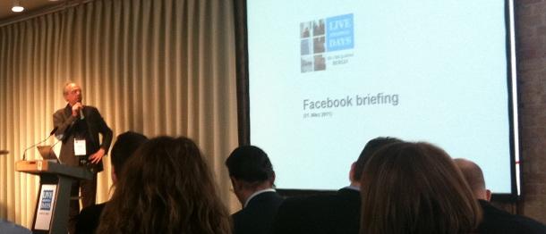 Andreas Bersch von Facebookbiz beim Facebook Briefing auf den LSD2011