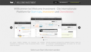 Welcome Investment Landingpage