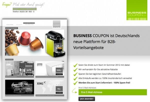 Business Coupon - Nach 6 Monaten intensiver Vorbereitung gestartet (© Business Coupon)